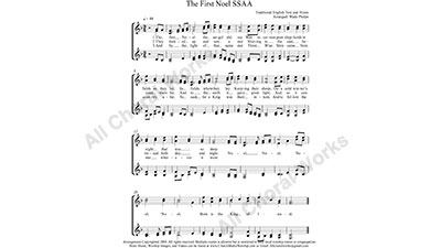 The First Noel Female Choir Sheet Music SSAA 4-part Make unlimited copies of sheet music and the practice music.