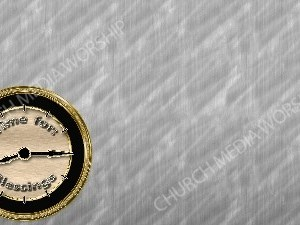 Time For Blessings - Silver Christian Worship Background. High quality worship images for use to spread the Gospel and enhance the worship experience.