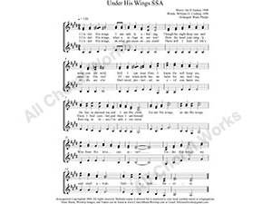 Under His Wings Female Choir Sheet Music SSA 3-part Make unlimited copies of sheet music and the practice music.