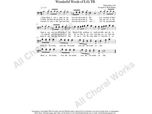 Wonderful Words of Life Male Choir Sheet Music TB 2-part Make unlimited copies of sheet music and the practice music.