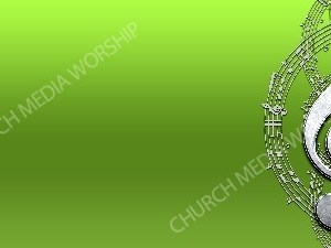 Treble clef - Green Christian Worship Background. High quality worship images for use to spread the Gospel and enhance the worship experience.