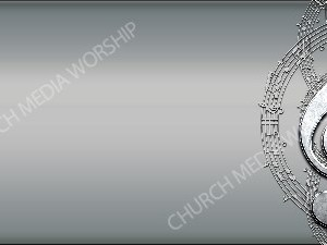 Treble clef - Silver Christian Worship Background. High quality worship images for use to spread the Gospel and enhance the worship experience.