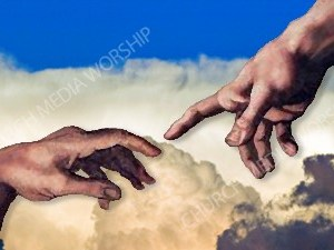 Hand of God V2 Christian Worship Image. High quality worship images for use to spread the Gospel and enhance the worship experience.