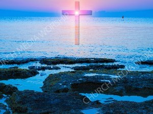 Jesus in Nature V17 Christian Worship Image. High quality worship images for use to spread the Gospel and enhance the worship experience.