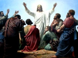 Jesus ascension V2 Christian Worship Image. High quality worship images for use to spread the Gospel and enhance the worship experience.