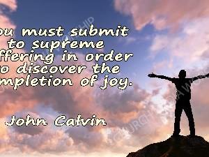 John Calvin quote V2 Christian Worship Image. High quality worship images for use to spread the Gospel and enhance the worship experience.