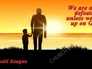 Reagan quote V2 Christian Worship Image. High quality worship images for use to spread the Gospel and enhance the worship experience.