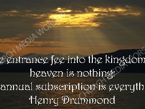 Henry Drummond quote V2 Christian Worship Image. High quality worship images for use to spread the Gospel and enhance the worship experience.