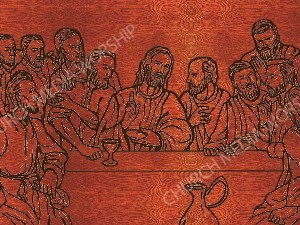 Last Supper Silhouette wood V2 Christian Worship Image. High quality worship images for use to spread the Gospel and enhance the worship experience.