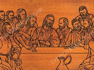 Last Supper Silhouette wood V3 Christian Worship Image. High quality worship images for use to spread the Gospel and enhance the worship experience.