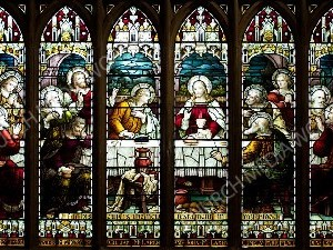 multiple stained glass Christian Worship Image. High quality worship images for use to spread the Gospel and enhance the worship experience.