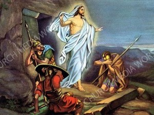 Risen from the dead Christian Worship Image. High quality worship images for use to spread the Gospel and enhance the worship experience.