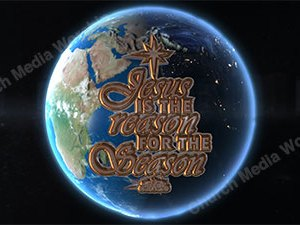 Jesus is the Reason over the earth Version 1 Christian Video Clip Use as a standalone or added as a clip to make a themed Christian video. Enhance the Worship experience.
