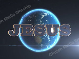 Jesus over the earth Christian Animated Still A professional animated intro that's stops on a still image without continuous movements distracting the audience.