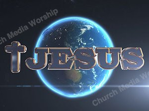 Jesus with Cross over the earth Christian Animated Still A professional animated intro that's stops on a still image without continuous movements distracting the audience.