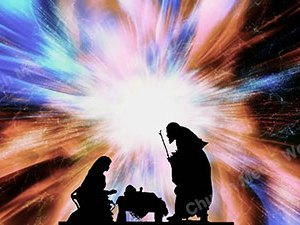 Nativity in Space fast Christian Worship Loop Video Perfectly timed for no glitches in 1080P HD. Room for lyrics