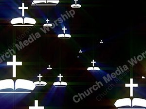 Bible Cross Water Christian Worship Loop Video Perfectly timed for no glitches in 1080P HD. Room for lyrics