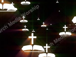 Bible Cross Flashlight Christian Worship Loop Video Perfectly timed for no glitches in 1080P HD. Room for lyrics