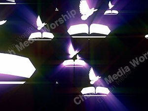 Bible Dove Purple Christian Worship Loop Video Perfectly timed for no glitches in 1080P HD. Room for lyrics