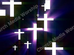 Cross Purple Christian Worship Loop Video Perfectly timed for no glitches in 1080P HD. Room for lyrics