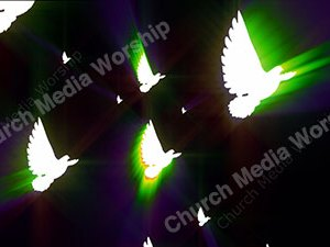 Dove Rainbow Christian Worship Loop Video Perfectly timed for no glitches in 1080P HD. Room for lyrics
