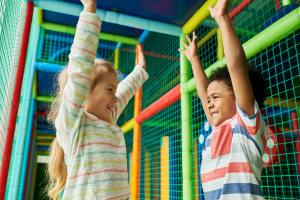 Excited Kids in Play Area