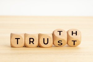 Truth and trust concept
