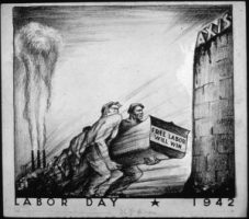 """Labor Day 1942""from the Office for Emergency Management. Office of War InformationStored in NARA archives, Public domain"