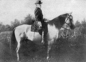 General Robert E Lee on his war horse, Traveler