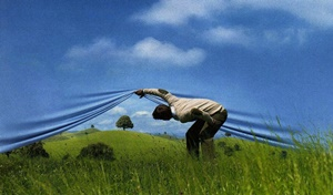 Looking over the horizon. (Image from swissre.com ad.)
