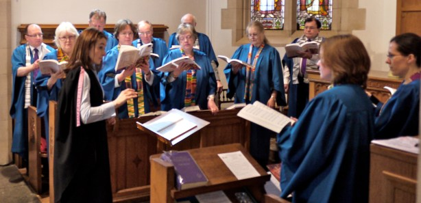 St. Andrew's adult choir sings an anthem on May 05, 2013