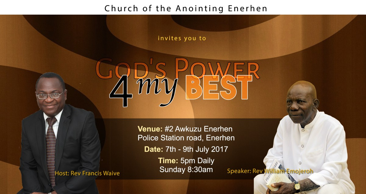 church of the anointing enerhen program