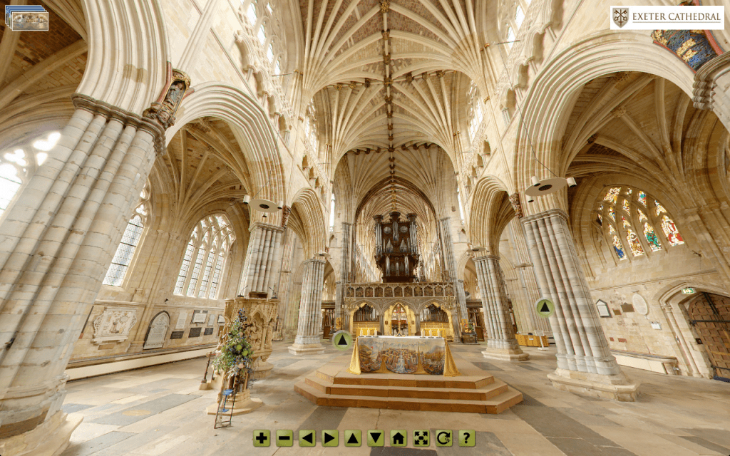 http://www.peterstephens.co.uk/virtual_tours/exeter-cathedral/2012/virtualtour.html
