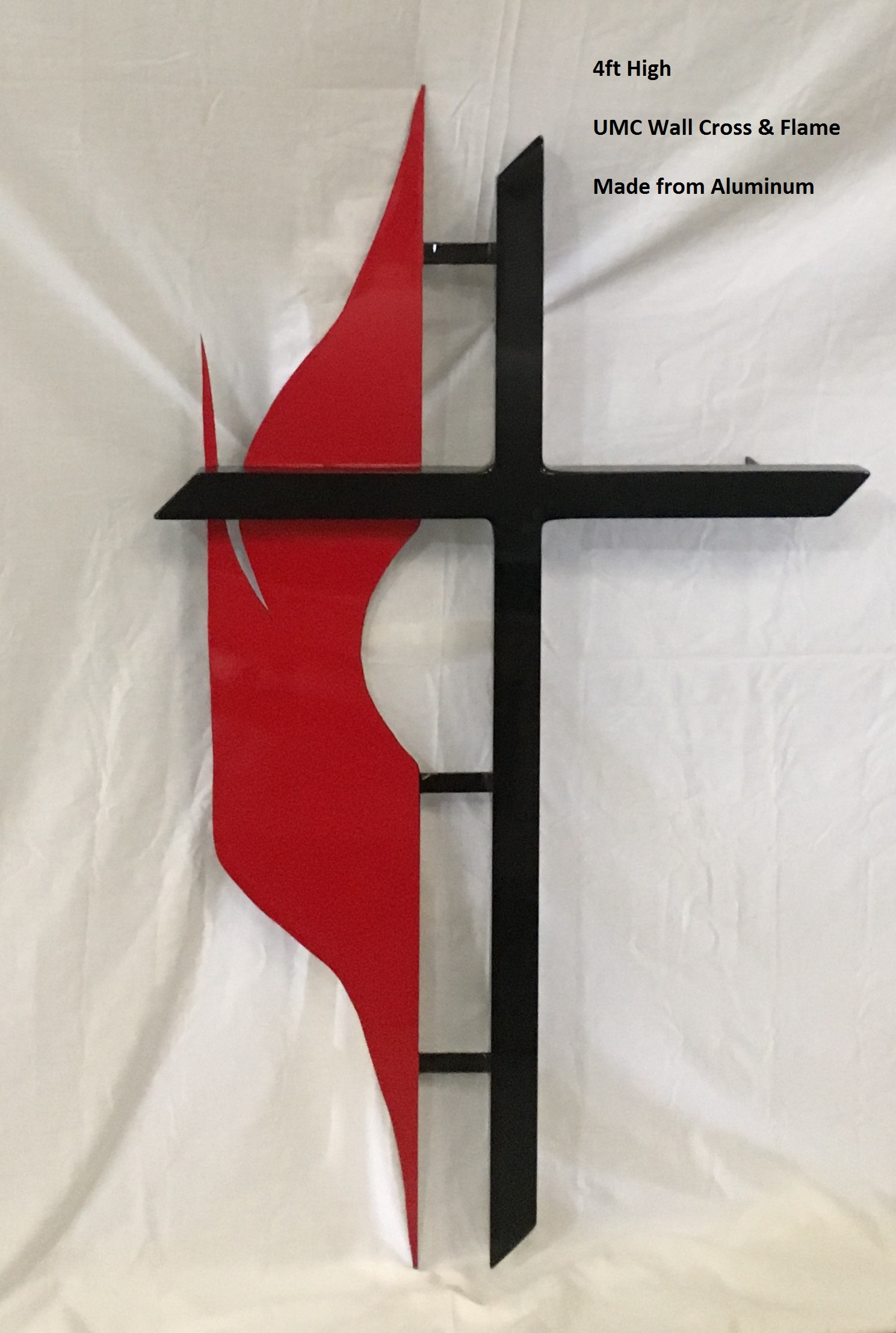 Methodist Cross Amp Flame Umc Wall Cross Item As Wc Met