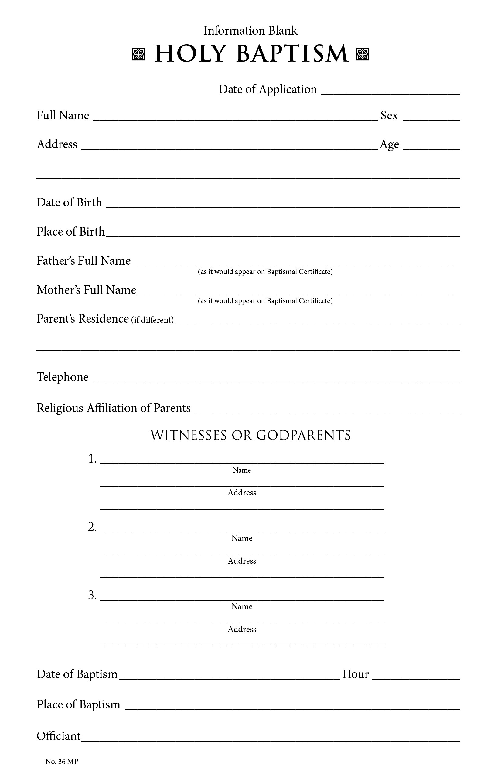 Churchpublishing Baptismal Information Form 35