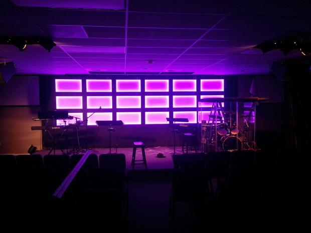 Glow Grid Church Stage Design Ideas
