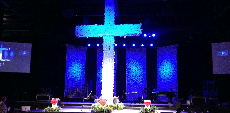 Card Cross Church Stage Design Ideas