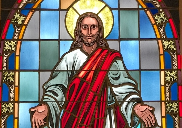 South side Center Christ Window (45 x 90) (960x1280)