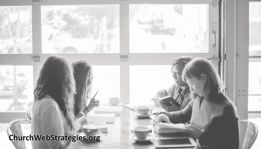 women at Bible study around table