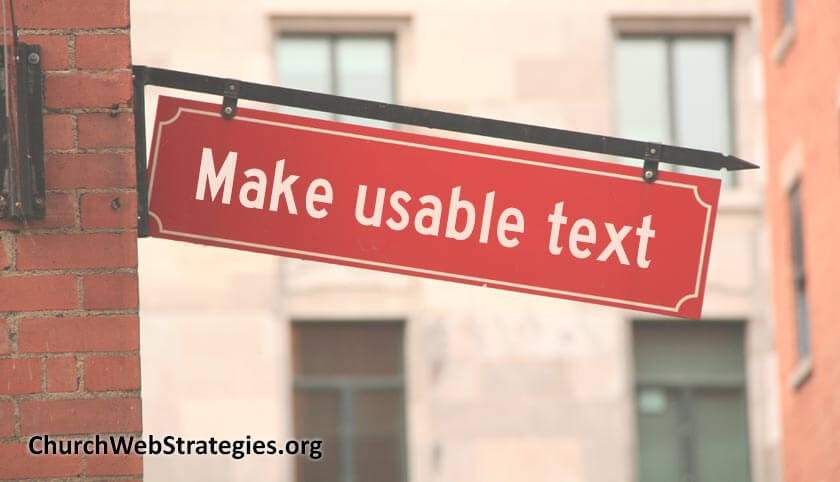 Making Readable Text for your Church