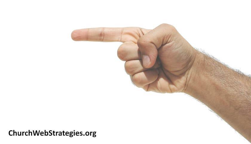 finger pointing left