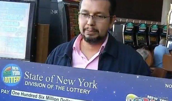 Compatriota gana lotería de Nueva York.  La suma, 106 millones de dólares.