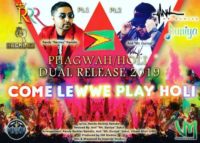 Come Lewwe Play Holi Pt. 1 By Randy Recklez Ramdin Ft. Anil Mr. Duniya (phagwah:holi 2019)