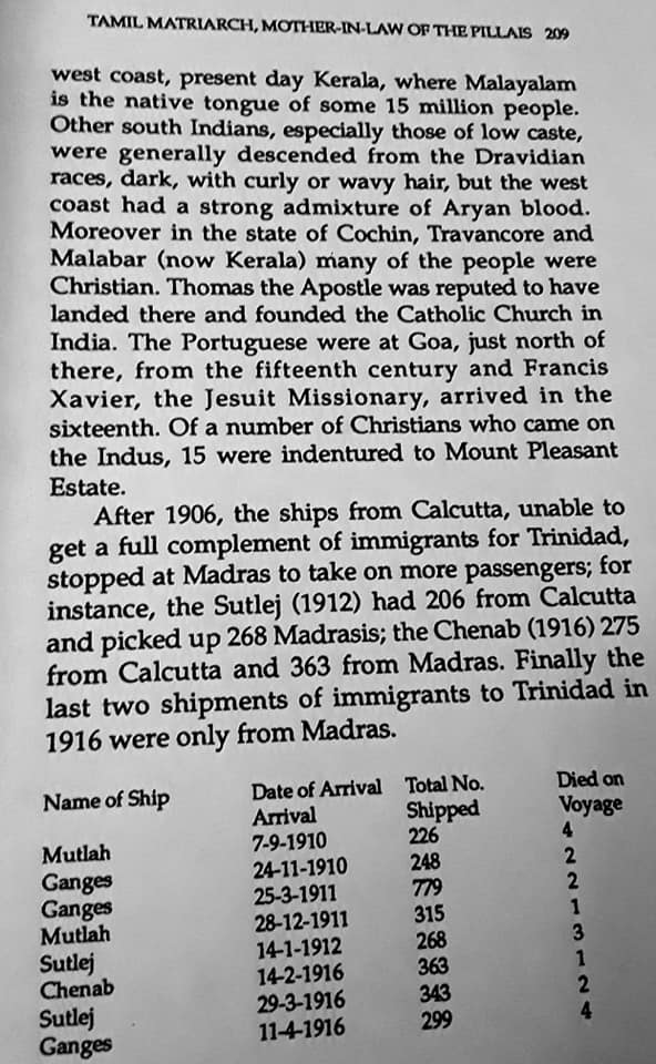 Migration Of The Madrassi Indians To Trinidad 209