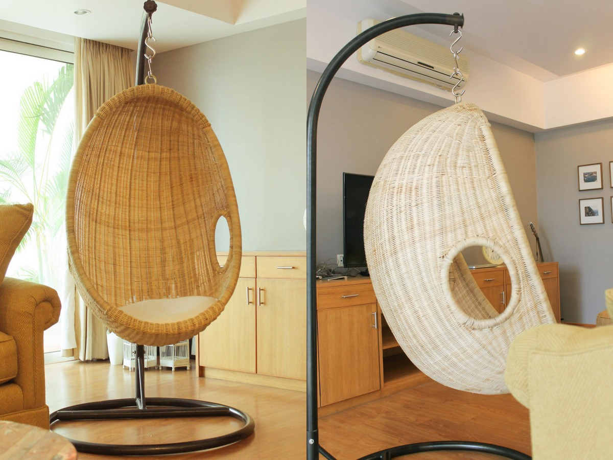Swing Rattan Chair In India   Living Room Before   AfterSwing Rattan Chair In India   Living Room Before   After   Chuzai  . Living Room Swing. Home Design Ideas