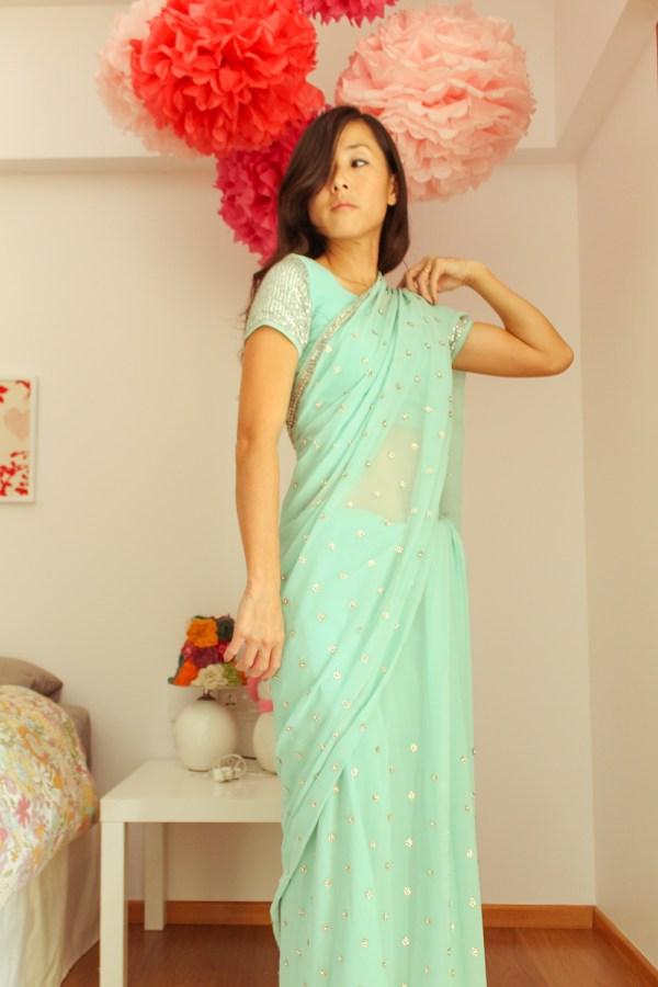 how to wear a saree-12