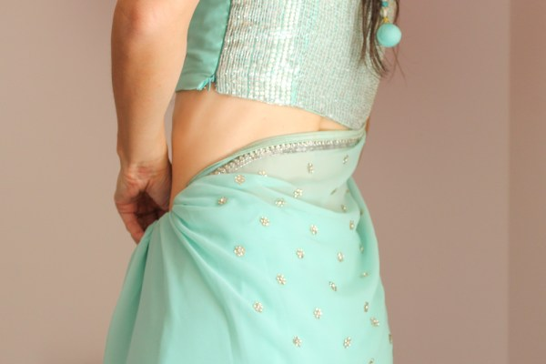 how to wear a saree-5