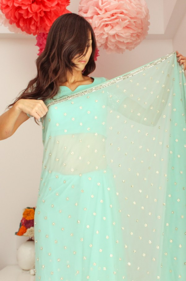 how to wear a saree-7