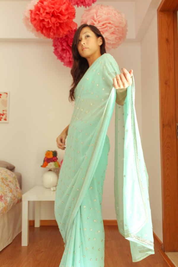 how to wear a saree-9