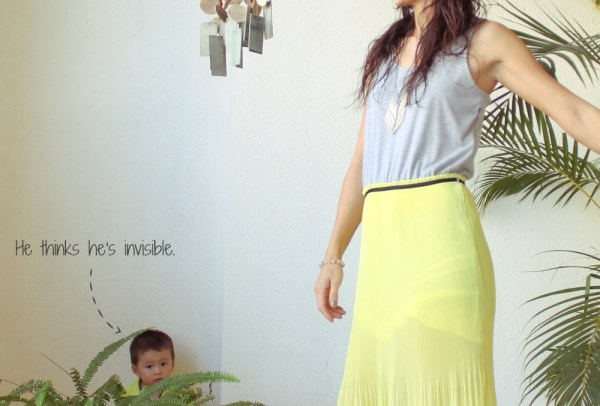 Monday Mode ☆ Neon Yellow Maxi Dress Amp Leather Bag By